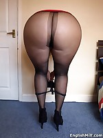 English MILF - housewife in stockings big ass MILF