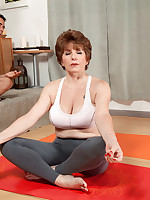 60 Plus MILFs - Bea takes a yoga class - Bea Cummins (50 Photos)