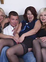 One lucky guy doing three naughty housewives
